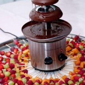 Шоколадов фонтан с 2кг. шоколад и палто плодови шишчета 1бр. цена 150,00лв.